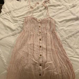 Gap Pink Striped Sundress - Size L